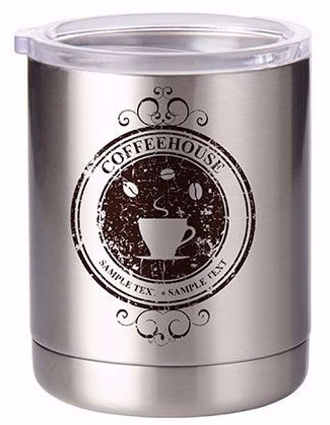 Picture of 10 OZ Stainless Steel Lowball - 26 AVAILABLE