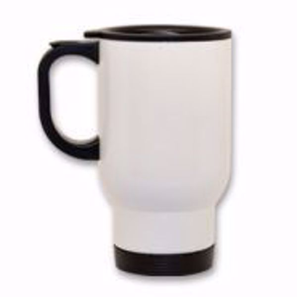 Picture of 14 oz. Stainless Steel Travel Mug - White