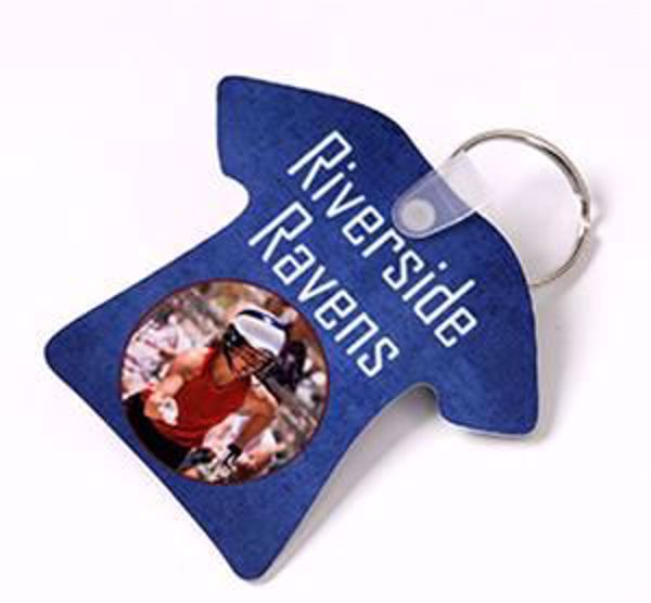 """Picture of T-Shirt Key Chain 2.77"""" x 2.5"""""""