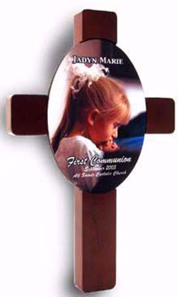 "Picture of Cross Plaque w/Oval Insert 7"" x 11"""
