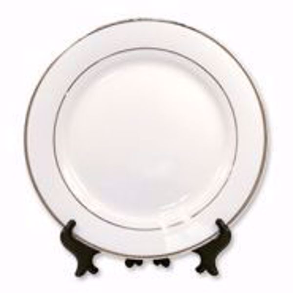 """Picture of 8"""" Rim Plate w/Gold Trim - 13 AVAILABLE"""