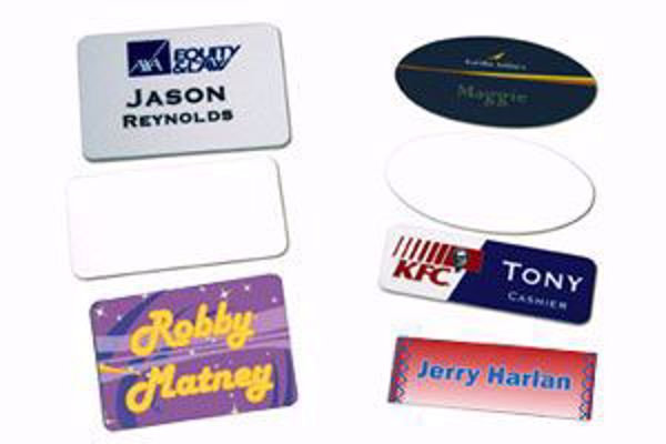 "Picture of Name Badge - Matte - 1"" x 3"""